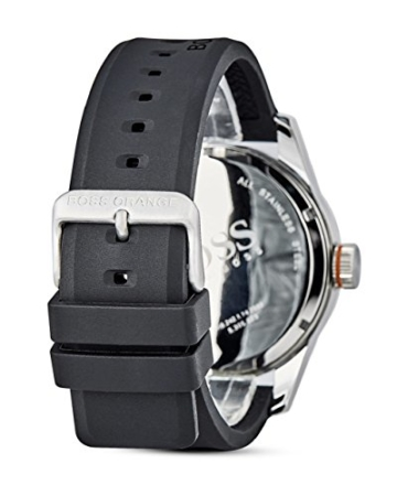 Hugo Boss Orange Paris Herren-Armbanduhr Quartz Analog mit schwarzem Silikon Armband 1513350 - 3
