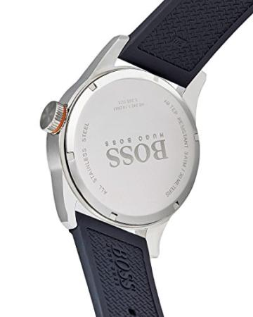 Hugo Boss Orange Paris Herren-Armbanduhr Quartz Analog mit schwarzem Silikon Armband 1513350 - 4