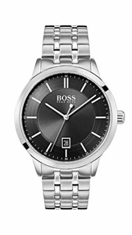 Hugo Boss Watch Herren Analog Quarz Uhr mit Edelstahl Armband 1513614 - 1