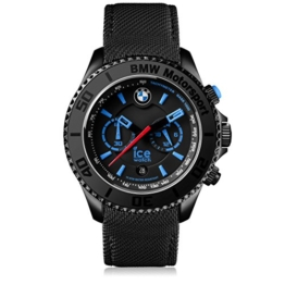 Ice-Watch - BMW Motorsport (steel) Black - Schwarze Herrenuhr mit Lederarmband - Chrono - 001119 (Large) - 1
