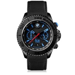 Ice-Watch - BMW Motorsport (steel) Black - Schwarze Herrenuhr mit Lederarmband - Chrono - 001119 (Large) - 1