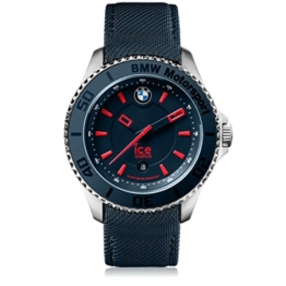 Ice-Watch - BMW Motorsport (steel) Blue Red - Blaue Herrenuhr mit Lederarmband - 001118 (Large) - 1