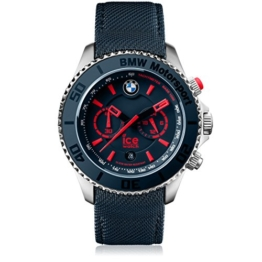 Ice-Watch - BMW Motorsport (steel) Blue Red - Blaue Herrenuhr mit Lederarmband - Chrono - 001122 (Large) - 1