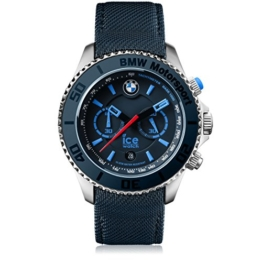 Ice-Watch - BMW Motorsport (steel) Dark & Light BE - Blaue Herrenuhr mit Lederarmband - 001125 (Extra Large) - 1