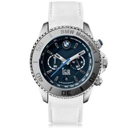 Ice-Watch - BMW Motorsport (steel) White - Weiße Herrenuhr mit Lederarmband - Chrono - 001120 (Large) - 1