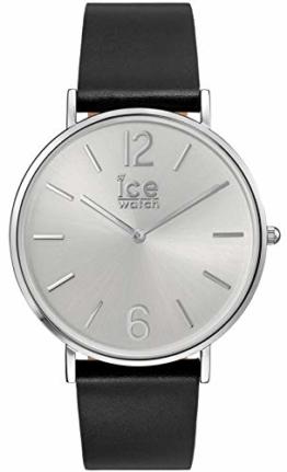 Ice-Watch - CITY tanner Black Silver - Schwarze Herrenuhr mit Lederarmband - 001514 - Schwarz/Weiß -Medium - 1