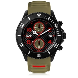 Ice-Watch - ICE carbon Black Khaki - Grüne Herrenuhr mit Silikonarmband - Chrono - 001318 (Extra Large) - 1
