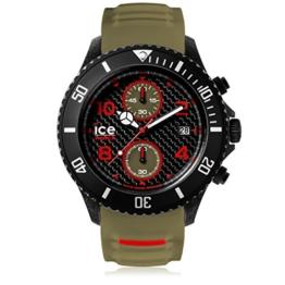 Ice-Watch - ICE carbon Black Khaki - Grüne Herrenuhr mit Silikonarmband - Chrono - 001318 (Extra Large) - 1