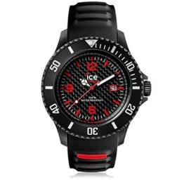 Ice-Watch - ICE carbon Black White - Schwarze Herrenuhr mit Silikonarmband - 001312 (Large) - 1