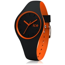 Ice-Watch - ICE duo Black Orange - Schwarze Herrenuhr mit Silikonarmband - 001528 (Small) - 1