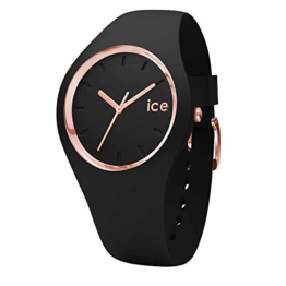 Ice-Watch - ICE glam Black Rose-Gold - Schwarze Damenuhr mit Silikonarmband - 000979 (Small) - 1