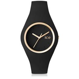 Ice-Watch - ICE glam Black - Schwarze Damenuhr mit Silikonarmband - 000918 (Medium) - 1