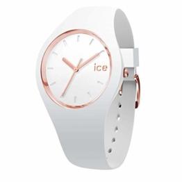 Ice-Watch - ICE glam White Rose-Gold - Weiße Damenuhr mit Silikonarmband - 000978 (Medium) - 1
