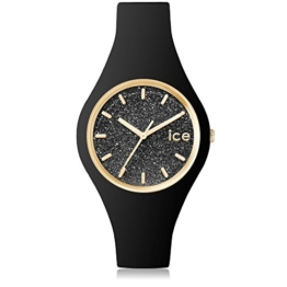 Ice-Watch - ICE glitter Black - Silbergraue Damenuhr mit Lederarmband - 001349 (Small) - 1
