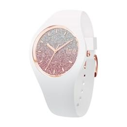 Ice-Watch - ICE lo White pink - Weiße Damenuhr mit Silikonarmband - 013431 (Medium) - 1