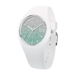 Ice-Watch - ICE lo White turquoise - Weiße Damenuhr mit Silikonarmband - 013430 (Medium) - 1