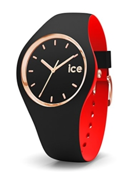 Ice-Watch - ICE loulou Black Rose-Gold - Schwarze Damenuhr mit Silikonarmband - 007236 (Medium) - 1