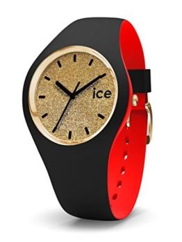 Ice-Watch - ICE loulou Gold Glitter - Schwarze Damenuhr mit Silikonarmband - 007238 (Medium) - 1