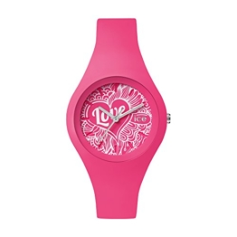 Ice-Watch - ICE love 2016 Pink Doodle - Rosa Damenuhr mit Silikonarmband - 001482 (Small) - 1