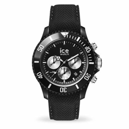 Ice-Watch Ice Urban Chrono PA Black Silver Uhr 10 bar Analog Datum Schwarz - 1