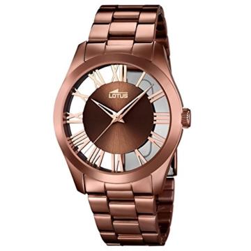 Lotus Damen Analog Quarz Uhr mit Edelstahl Armband 18125/1 - 1