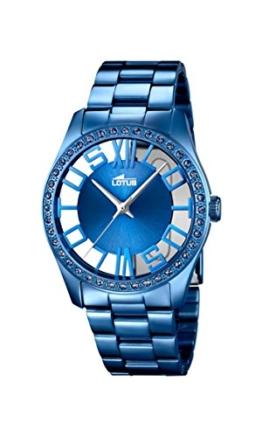 Lotus Damen Analog Quarz Uhr mit Edelstahl Armband 18251/1 - 1