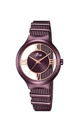 Lotus Damen Analog Quarz Uhr mit Edelstahl Armband 18335/1 - 1