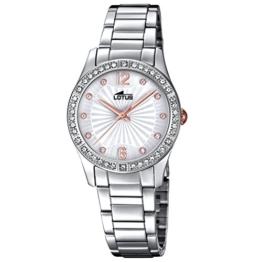 Lotus Damen Analog Quarz Uhr mit Edelstahl Armband 18383/1 - 1