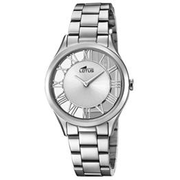 Lotus Damen Analog Quarz Uhr mit Edelstahl Armband 18395/1 - 1
