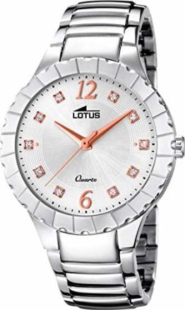 Lotus Damen Analog Quarz Uhr mit Edelstahl Armband 18410/1 - 1