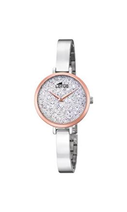 Lotus Damen Analog Quarz Uhr mit Edelstahl Armband 18563/1 - 1