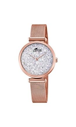 Lotus Damen Analog Quarz Uhr mit Edelstahl Armband 18566/1 - 1
