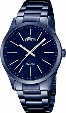 Lotus Herren Analog Quarz Uhr mit Edelstahl Armband 18163/3 - 1