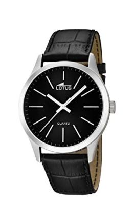 Lotus Herren Analog Quarz Uhr mit Leder Armband 15961/3 - 1