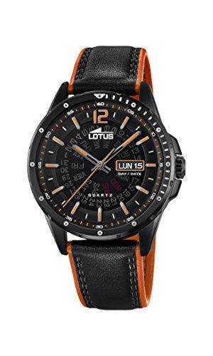 Lotus Herren Analog Quarz Uhr mit Leder Armband 18525/1 - 1