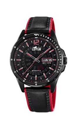 Lotus Herren Analog Quarz Uhr mit Leder Armband 18525/3 - 1