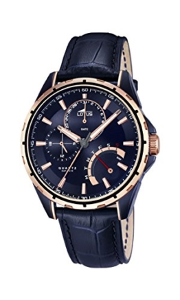 Lotus Herren Armbanduhr mit Blau Zifferblatt Analog Display und Blau Lederband 18210/1 - 1