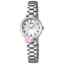 LOTUS Jugend-Uhr Junior Collection Analog Edelstahl-Armband silber Chronograph-Uhr Ziffernblatt silber UL18262/2 - 1