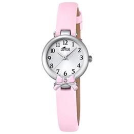 LOTUS Jugend-Uhr Junior Collection Analog Leder-Armband rosa Chronograph-Uhr Ziffernblatt silber UL18265/2 - 1