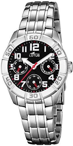 Lotus Jungen Analog Quarz Uhr mit Edelstahl Armband 15831/6 - 1
