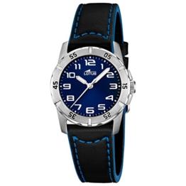 Lotus Jungen Analog Quarz Uhr mit Leder Armband 15945/B - 1