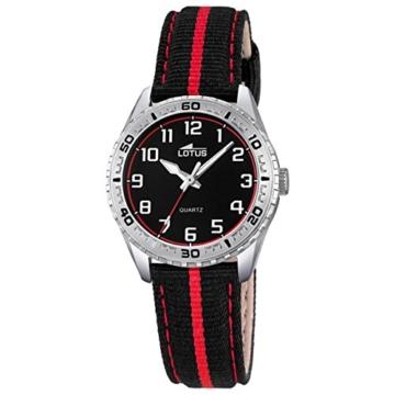 Lotus Jungen Analog Quarz Uhr mit Stoff Armband 18171/3 - 1