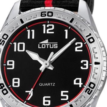 Lotus Jungen Analog Quarz Uhr mit Stoff Armband 18171/3 - 2