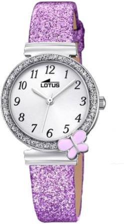 Lotus Mädchen Analog Quarz Uhr mit Nylon Armband 18584/4 - 1