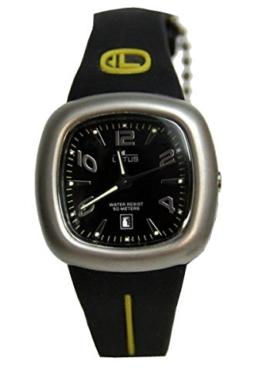 Lotus Uhr für Kind Kautschuk Armband Schwarz/Gelb 15275/5 - 1