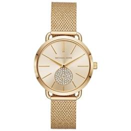Michael Kors Damen Analog Quarz Uhr mit Edelstahl Armband MK3844 - 1