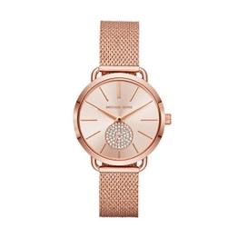 Michael Kors Damen Analog Quarz Uhr mit Edelstahl Armband MK3845 - 1