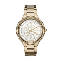 Michael Kors Damen Analog Quarz Uhr mit Edelstahl Armband MK6550 - 1