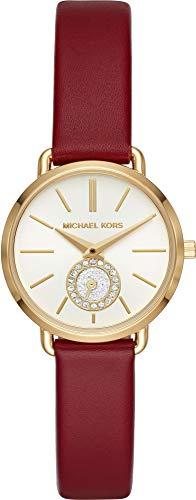 Michael Kors Damen Analog Quarz Uhr mit Leder Armband MK2751 - 1