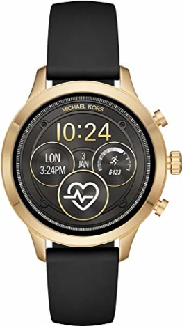 Michael Kors Damen Digital Smart Watch Armbanduhr mit Silikon Armband MKT5053 - 1
